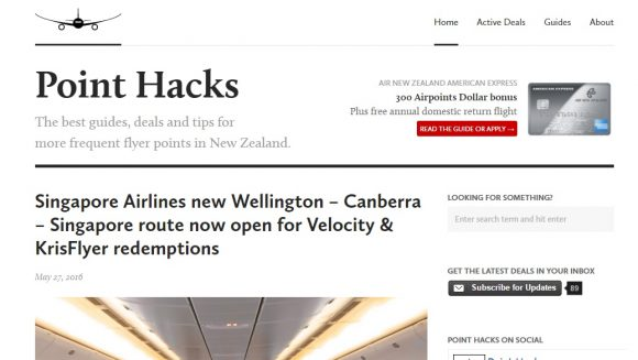 Point Hacks – Frequent Flyer Deals New Zealand