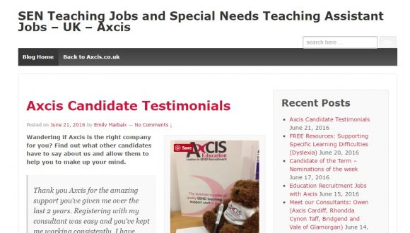 Axcis Special Needs Education Recruitment