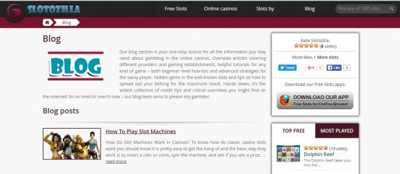 Free Slot Machine Blog