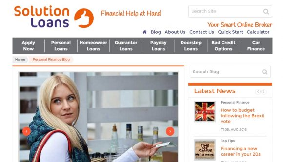 Solution Loans Personal Finance Blog