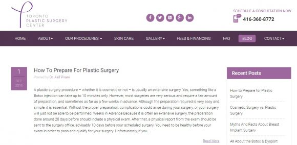 Toronto Plastic Surgery Center