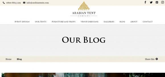Arabian Tent Company Blog