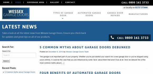 Wessex Garage Doors News