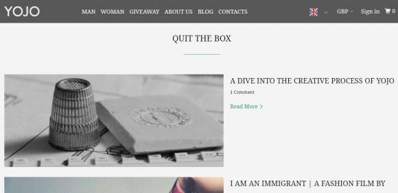 Quit The Box | Yojo