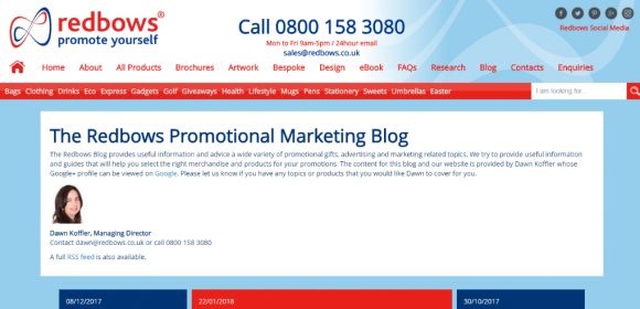 Redbows Promotional Marketing Blog