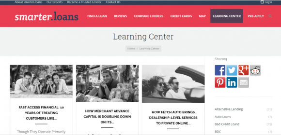 Smarter Loans Learning Center